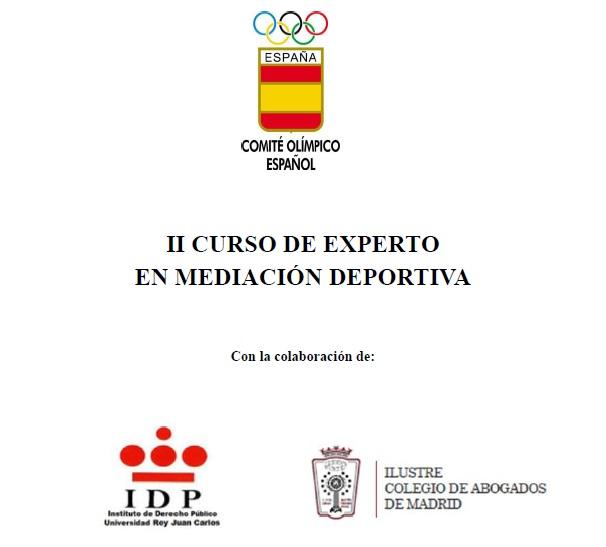 II Curso de Experto en Mediación Deportiva